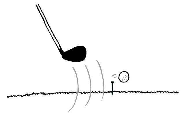 画像: 素振りで球が落ちてしまった場合は罰なし。再度1打目としてティアップできる