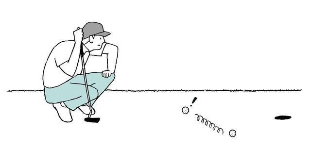 画像: 風でボールが動いてしまったら、元の位置にリプレースするのが正解。