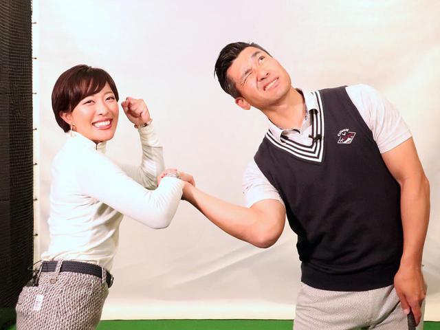 画像: シャローにクラブを下ろすときの右腕の動きは、「腕相撲で負けたとき」をイメージするとわかりやすい
