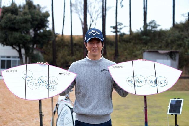 画像: マーベリック(左)とエピックフラッシュ(右)の打点位置とボール初速