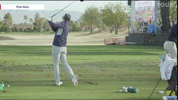 画像: Rickie Fowler range warm up at The American Express www.facebook.com