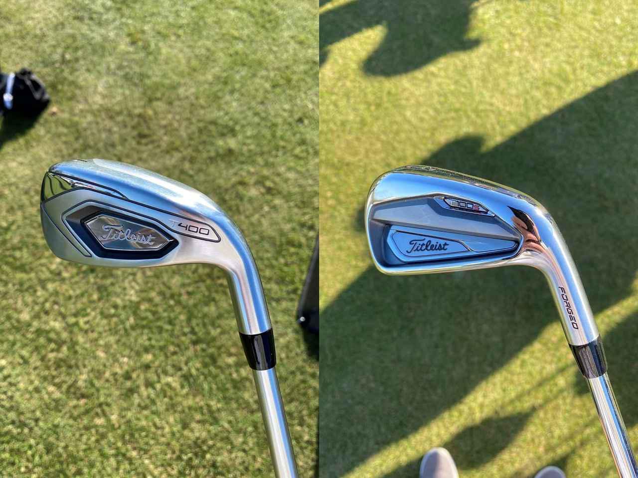 画像: 日本未発売モデルのタイトリストT400(写真左)とT100S(写真左)
