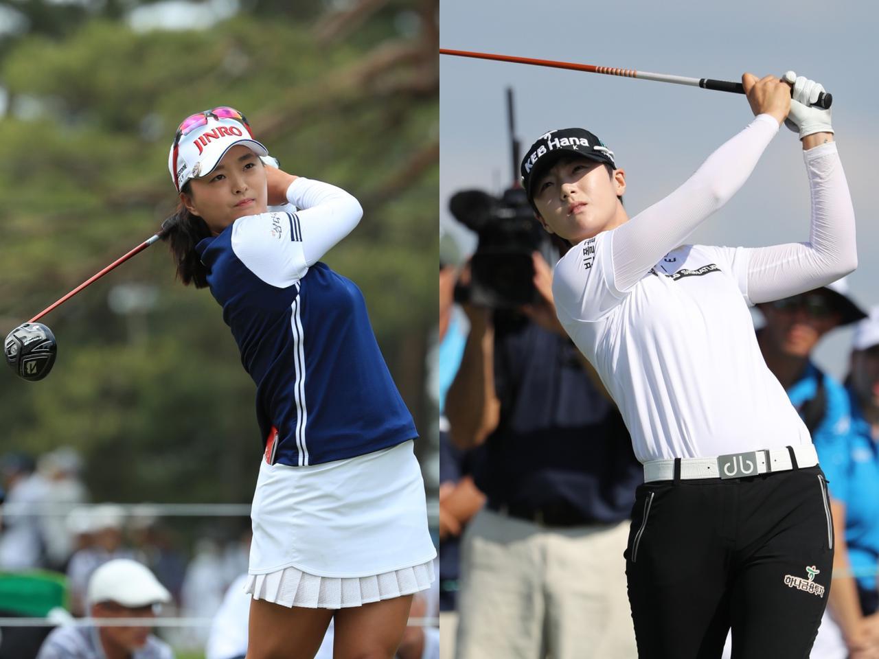 画像: 世界ランキング1位のコ・ジンヨン(写真左:写真は17年「サロンパスカップ」撮影/姉崎正)と同2位のパク・ソンヒョン(写真右:写真は19年「全米女子オープン」撮影/姉崎正)。女子五輪代表枠で最も熾烈な韓国でも抜き出た存在の2人だ