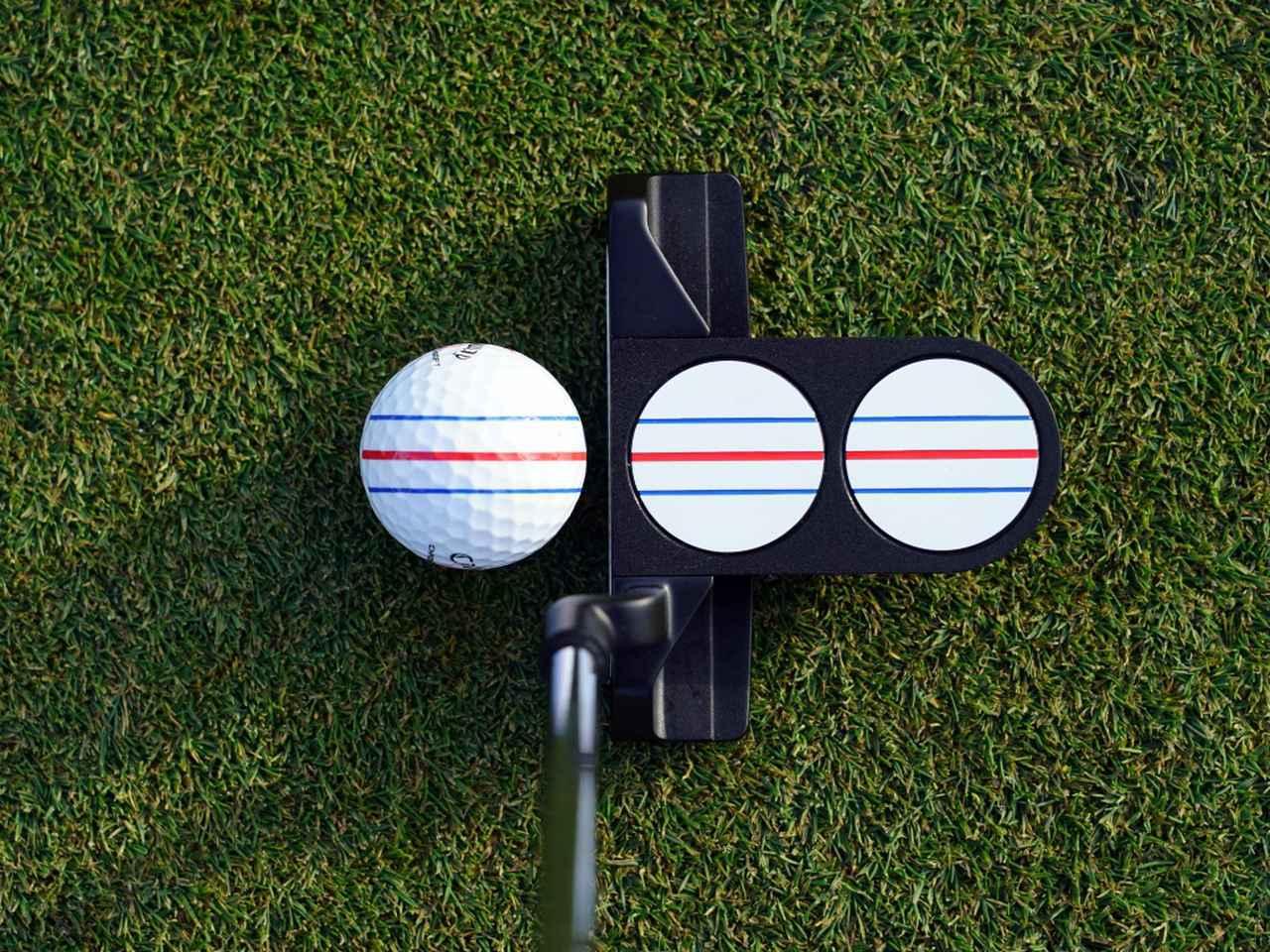 画像: 実際に構えるとこんな感じ。ボールの「トリプルトラック」と合わせると、イメージがかなり出しやすい