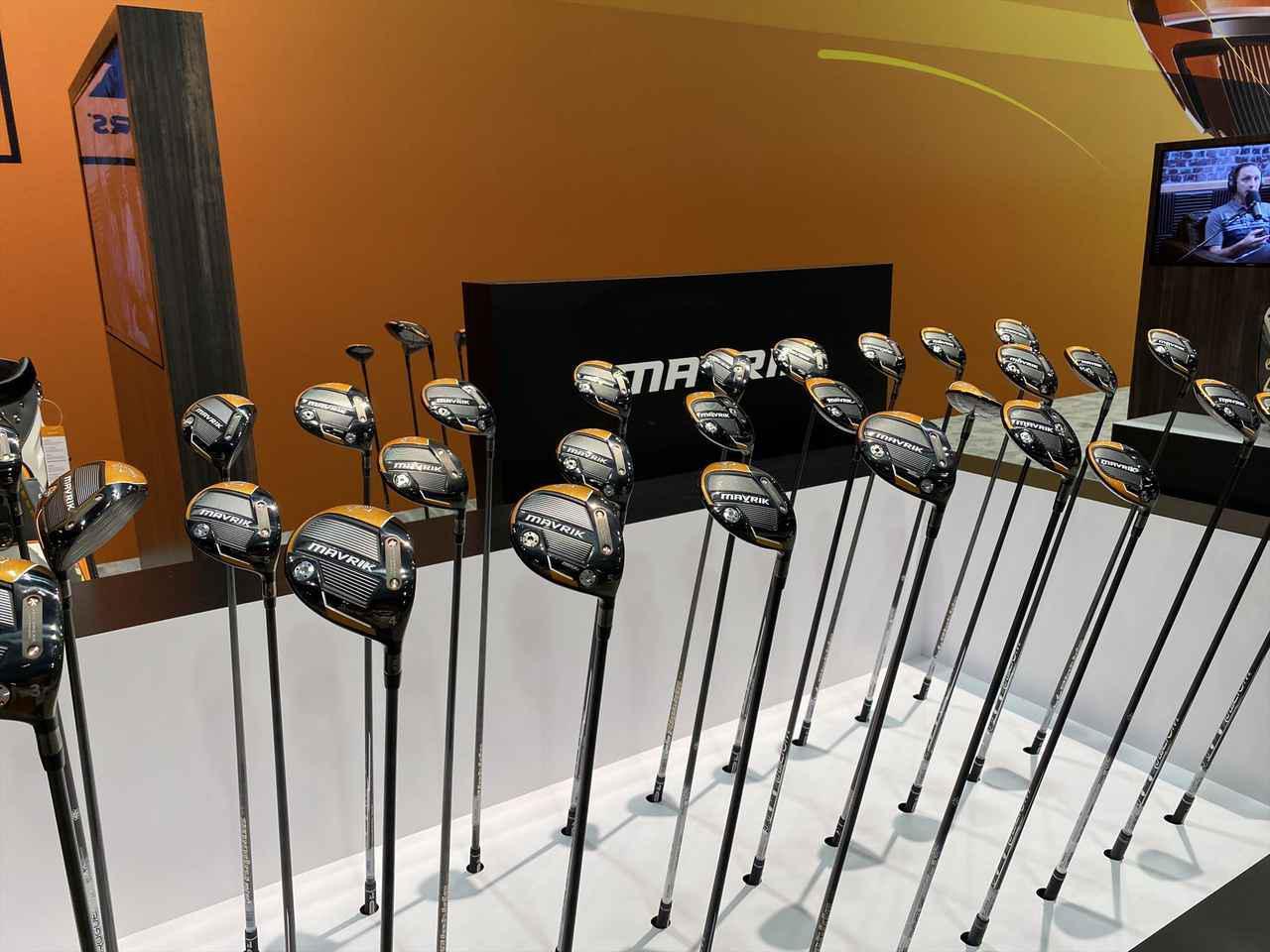 画像: 50g台の軽めのモデル、70g台のハードなモデルとシャフト違いのモデルも展示されていました