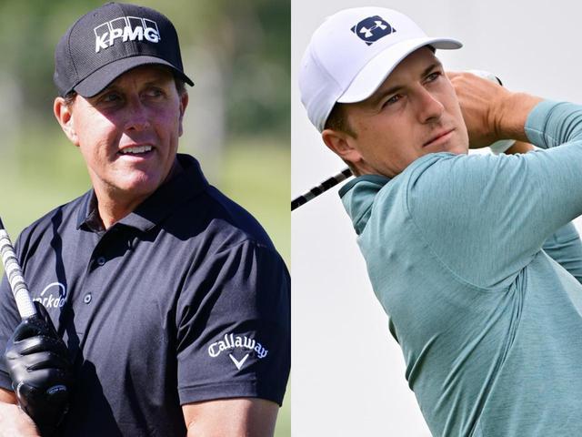 画像: 世界ランクトップ50に復帰するのはフィル・ミケルソン(左)か、それともジョーダン・スピース(右)か