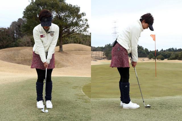 画像: 両足がくっつくくらい狭いスランスで、ボールは体に近めの位置に置こう