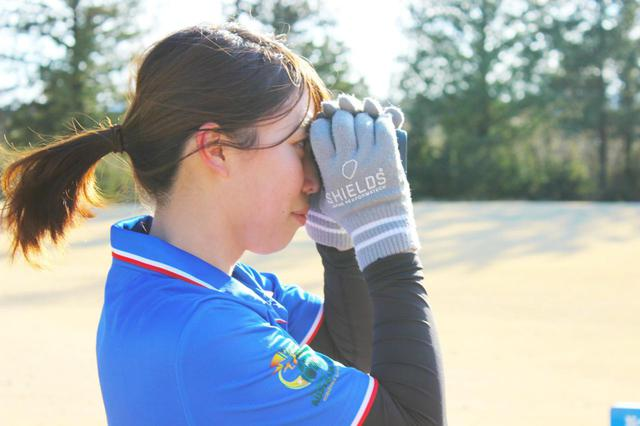 画像: ゴルフでも最近よくみる距離計測器。フットゴルフでも距離計測器を使用してピンの位置の距離を把握しているみたいです!