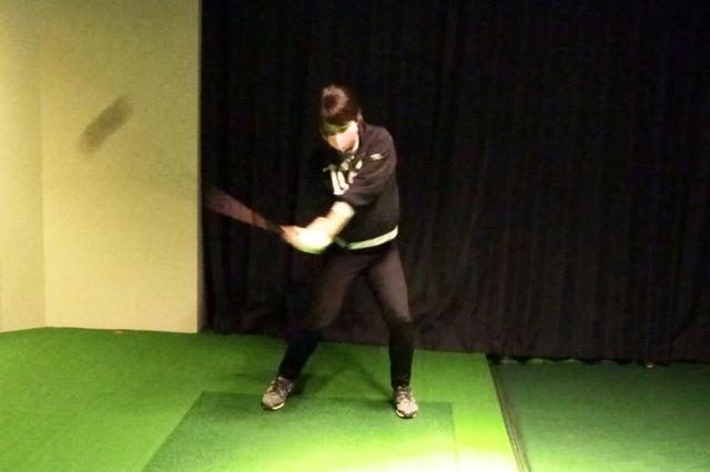 画像: しっかりと左へ体重移動ができるようになってきているのがわかる