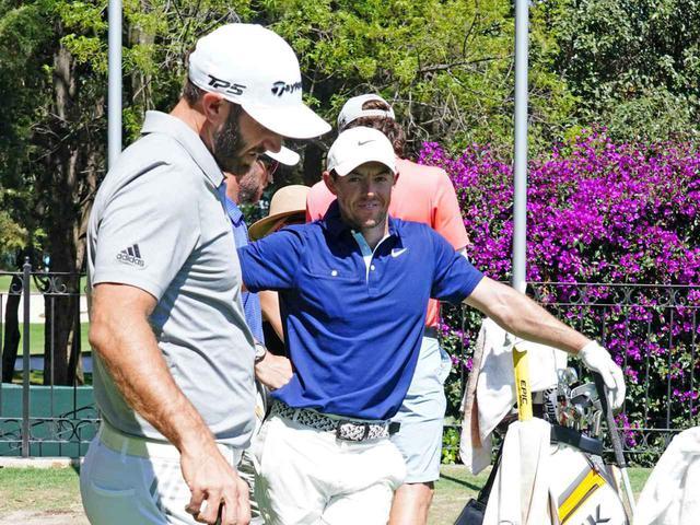 画像: 「WGCメキシコチャンピオンシップ」練習日、DJとマキロイが肩を並べて練習していた