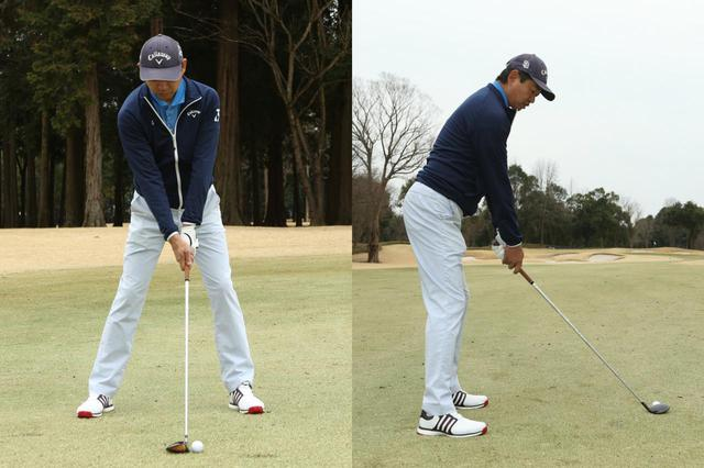 画像: フェアウェイウッドのアドレス。ボールは体の中心よりやや左が基準だ(撮影/野村知也)