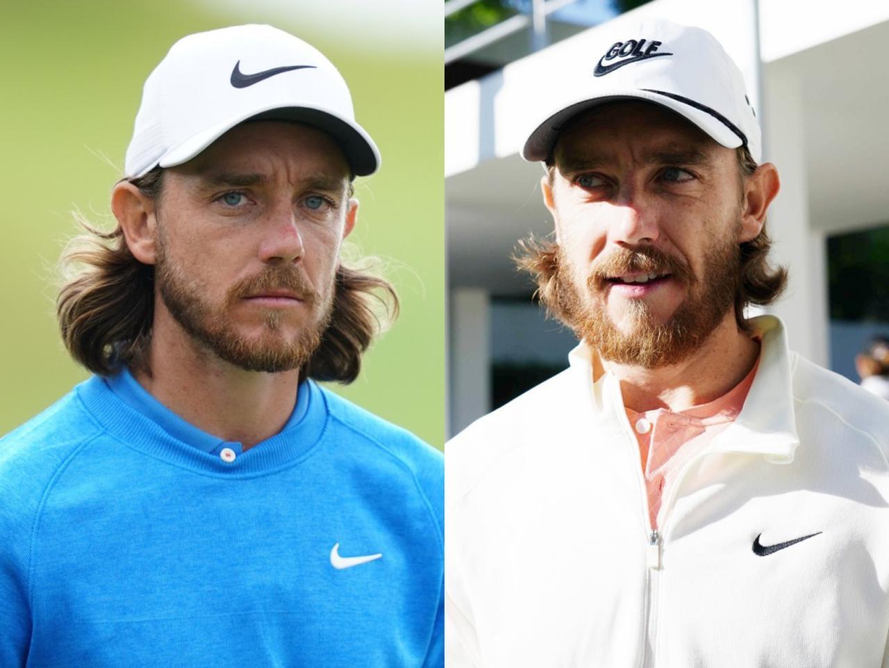 画像: 2019年の全米オープン(写真右)と今大会のトミーを比べると髪が短くなり、髭が伸びているのがわかる