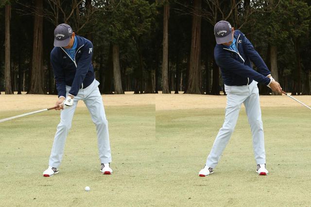 画像: 頭の位置は常にボールの右側にキープしよう(撮影/野村知也)