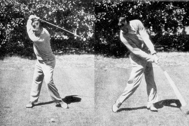 画像: ベン・ホーガンのスウィング理論は、クラブをターンさせやすく左へのミスのリスクが少なかったからこそのものだと内藤