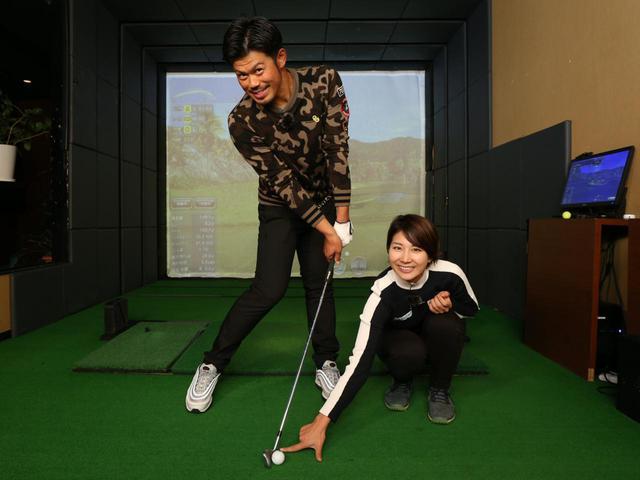 画像: インパクト地点の10センチ先までソールで地面を擦る練習ドリルによって、ボールを押し込む感覚をつかめる