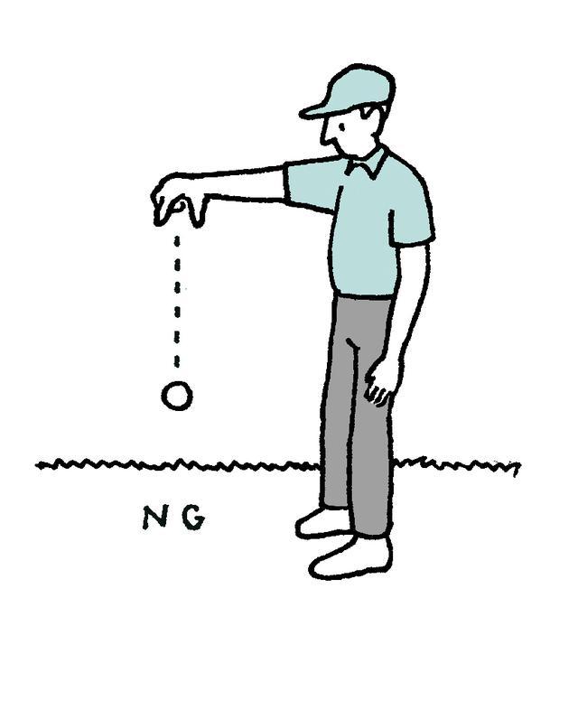 画像: 2018年までの肩の高さからドロップをしてやり直す事例がトーナメントでも起こっている。