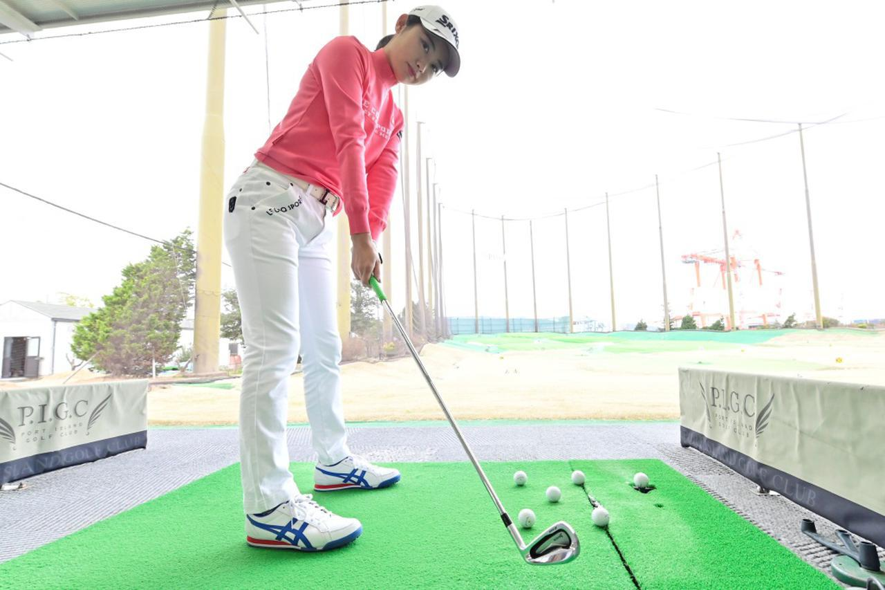 画像: 得意なショートアイアンの精度を高めるために安田祐香が取り組んでいる練習法とは?