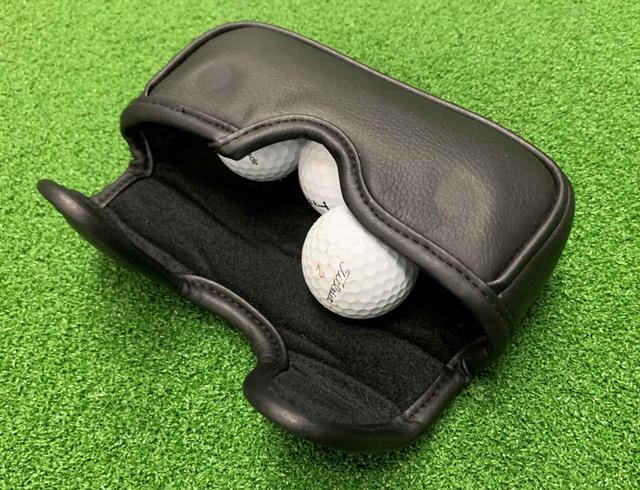 画像: マレット型のパターカバーにボールを4個入れると、ちょうどいい重さの障害物になってくれます