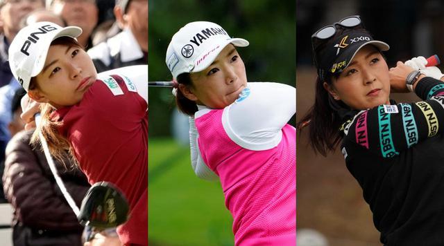 画像: 渋野日向子(左)、有村智恵(中)、青木瀬令奈(右)をはじめ、SNSを利用する女子プロたちの投稿をチェックしてみた