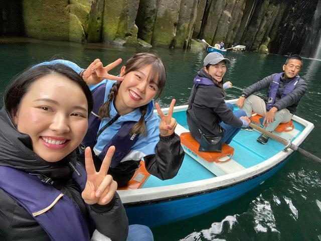 """画像1: Yuri Yoshida 吉田優利 on Instagram: """"チーム24のみんなで高千穂峡に行ってきました⛰大自然の中でいい空気たくさん吸ってきました笑・いっぱいパワー貰ったのでまた練習頑張ります‼️✨・・#宮崎#高千穂#チーム24"""" www.instagram.com"""