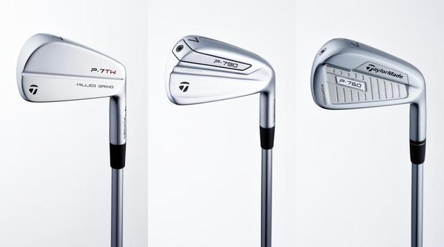 画像: アイアン部門を受賞したのはテーラーメイドのPシリーズ。左から「P.7TW」、「P790」、「P760」