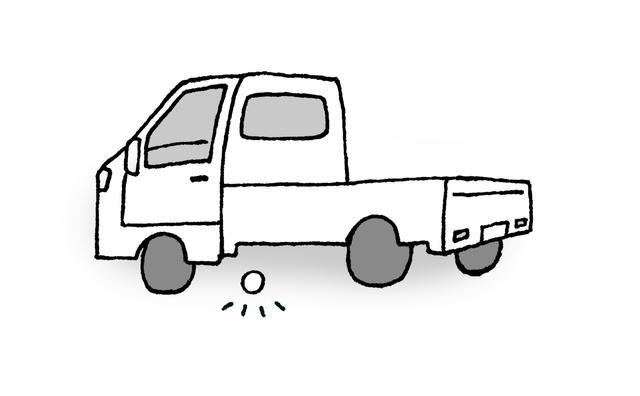 画像: コース管理の軽トラックの下にボールが止まってしまった場合はどうすればいい?