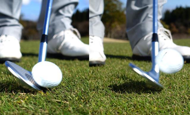 画像: 画像A:ソールのバウンスが芝の上を滑りボールを運んでくれる