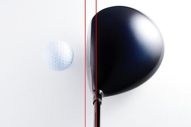 画像: ドライバーにもF.P.値はある。写真の赤線はシャフトの中心軸とリーディングエッジを表している。この長さがF.P.だ