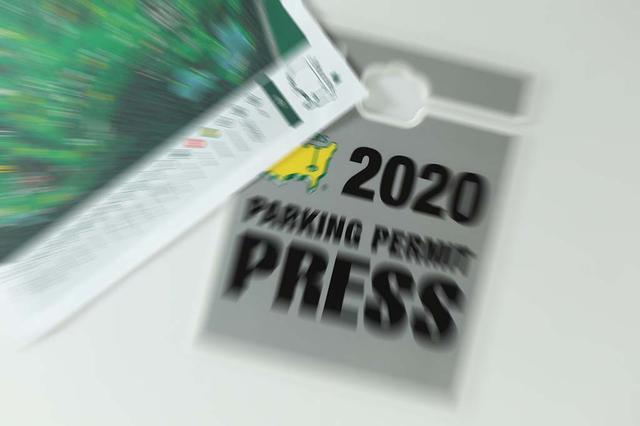 画像: マスターズから届いた駐車券。これが使えるのは半年以上先、11月のことだ