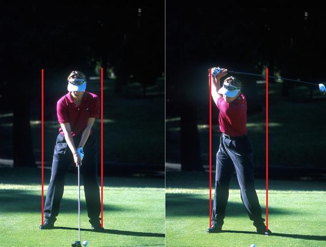画像: 画像A左手はスクェア右手はかぶせて握りセンターを軸にテークバックする(写真は2001年シスコワールドレディス)