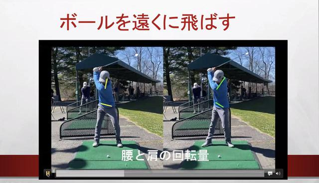 画像: 画像A:ボールを遠くに飛ばすためには体重移動を多くする(左)よりも腰と肩の回転量を増やす(右)ことが有効だという