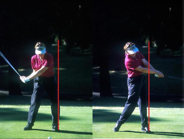 画像: 画像B 下半身の回転を上半身に伝えインパクトゾーンでは大きく肩を回す(写真は2001年シスコワールドレディス)