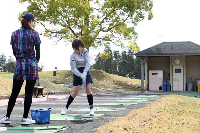 画像: レッスンの成果で、ドライバーの飛距離が20ヤード以上伸びた飯田