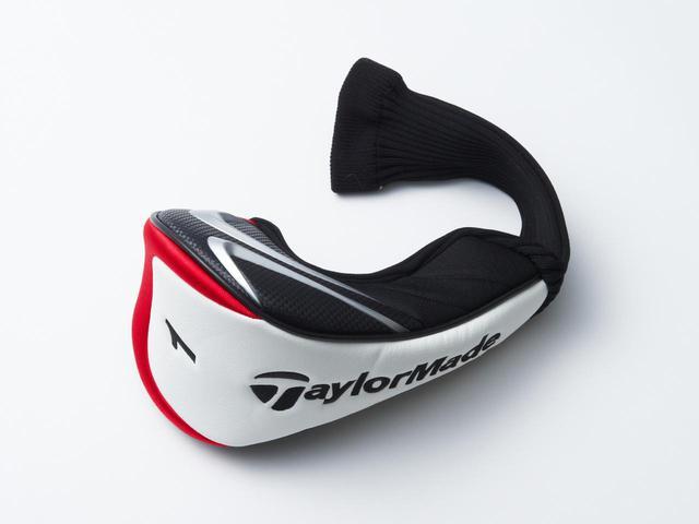 画像: テーラーメイドのドライバーヘッドカバー。メーカー付属のヘッドカバーは各モデルごとに異なるデザインがされている場合が多い