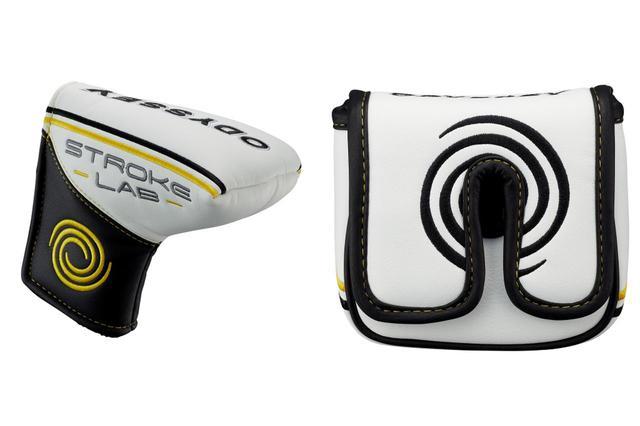 画像: 写真はどちらもストロークラボパターに付属するヘッドカバーだが、左はブレードタイプ、右は大型マレットタイプのもの。大型マレットの場合はヘッドサイズの都合でネックは保護できない仕様となっている