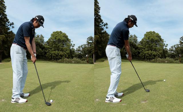 画像: ハンドアップで構えトゥ側でヒットする意識を持てば余計な手首の動きが制限されボールをクリーンに打ちやすい