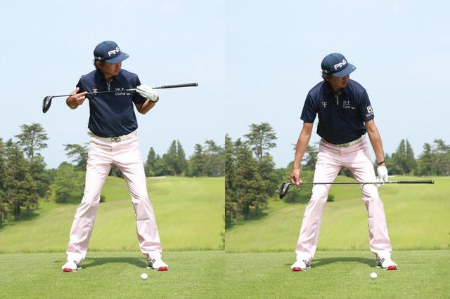 画像: 両肩のラインと、両ひざのラインはどちらもターゲット方向に対して平行になる(撮影/姉崎正)