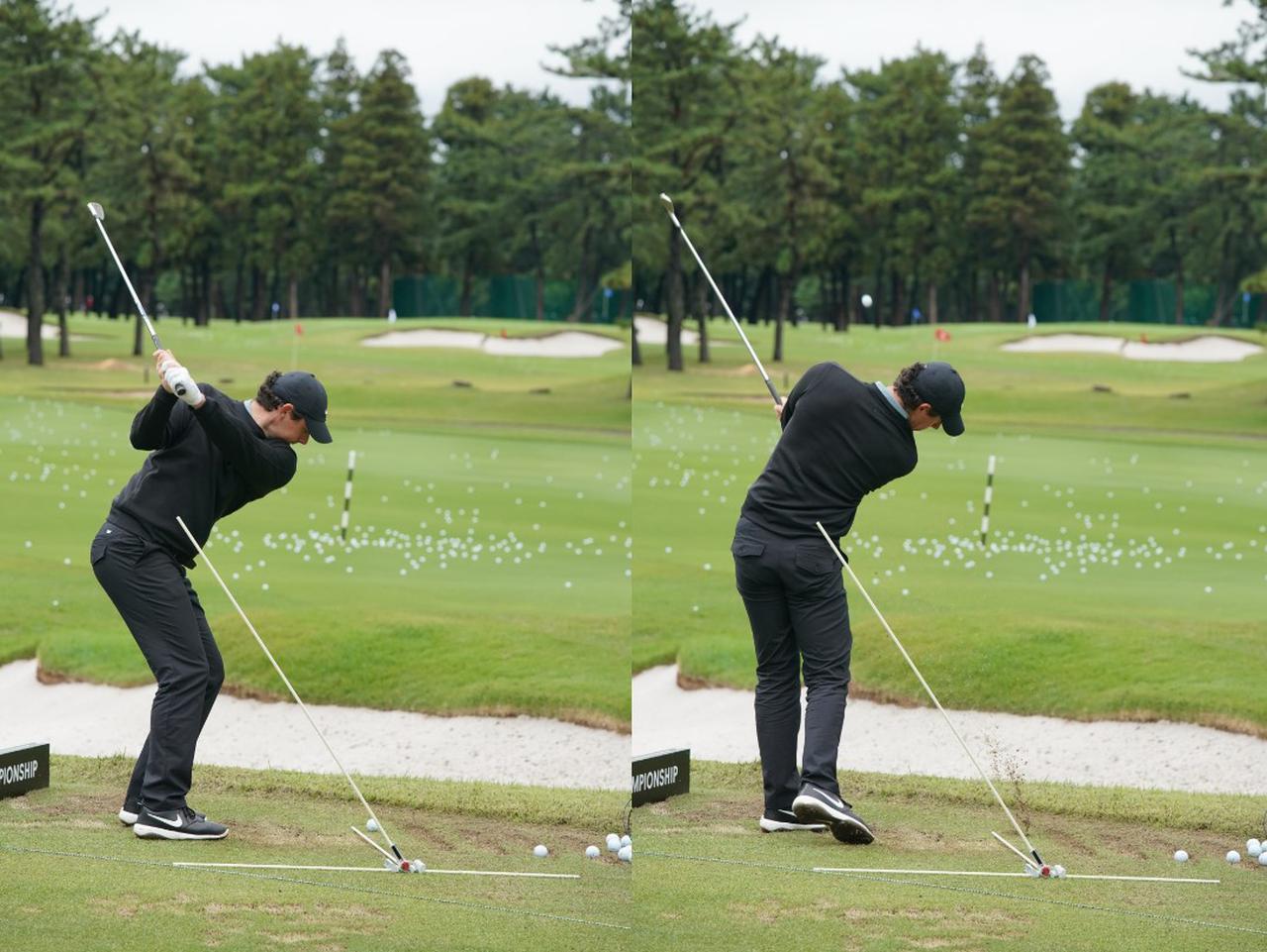 画像: アイアンショットでは左肩よりも低く振り抜きヘッドスピード、フェースの開閉をコントロールしながらピンを狙う(写真は2019年ZOZOチャンピオンシップ 写真/岩村一男)