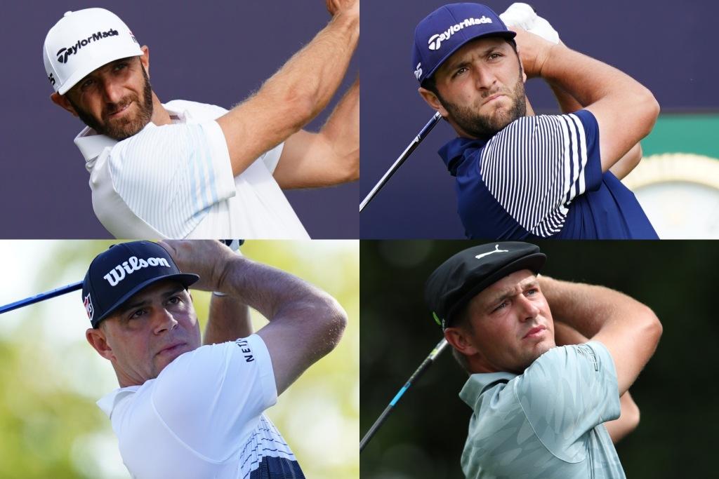 画像: 無観客で開催されたPGAツアー、選手たちはどう感じた?(写真左上から時計回りでダスティン・ジョンソン、ジョン・ラーム、ブライソン・デシャンボ―、ゲーリー・ウッドランド)