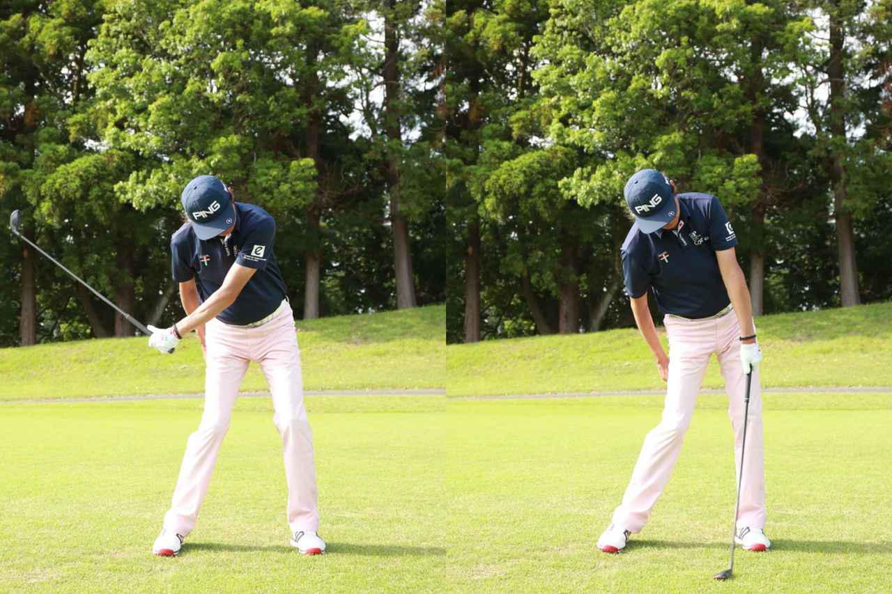 画像: 左手1本でスウィングするイメージを持とう。左手のみでの素振りやボールを打つ練習も効果的だ(撮影/姉崎正)
