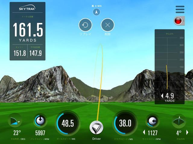 画像: インパクトバッグを叩いてから打つと、トータル161.5ヤードと、かなり飛距離が伸びました!