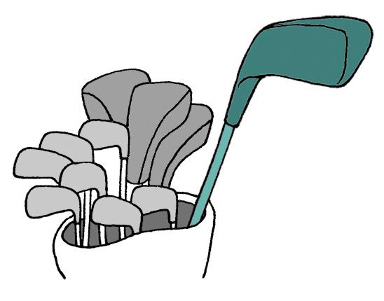画像: クラブの形をした練習器具も使用できないが、クラブの1本として数えられるので注意が必要だ