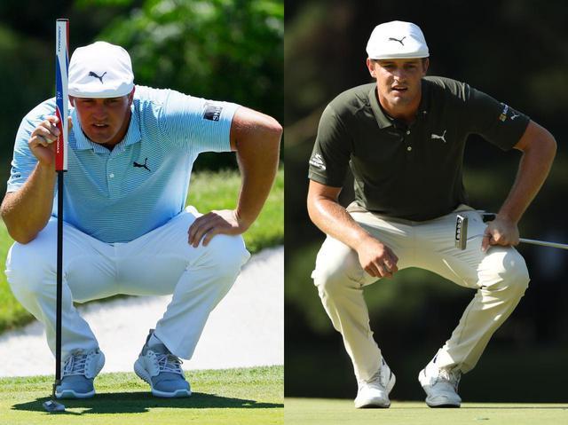 画像: 2020年と2016年のデシャンボ―を比較すると、格段に身体が大きくなっているのがわかる(写真左は2020年のチャールズ・シュワブチャレンジ/Getty Images、写真右は2016年のブリヂストンオープンゴルフトーナメント 撮影/姉崎正)