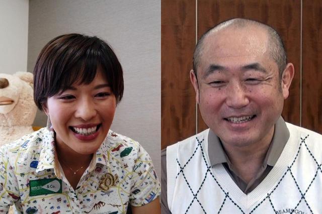 画像: ゴルフ好きなお笑い芸人ずん・やす(右)が、ゴルフ上達のため美女プロ小澤美奈瀬(左)のリモートレッスンを受講した