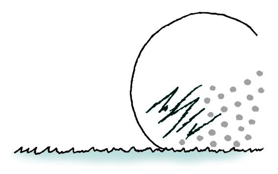 画像: 引っかき傷やペイントが剥がれたりだけの場合は球は取り換え不能となる