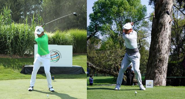画像: 画像B:3年前の左のトップの位置と比べても右の今季の方が捻転が深く可動域の制限を受けずに筋肉増量に成功している(写真は2017年のWGCブリヂストン招待(左)、2020年のWGCメキシコ選手権(右)写真/姉崎正)