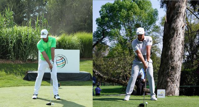 画像: 2月のWGCメキシコ選手権(右)の時点でも体つきの違いは一目瞭然(写真は2017年のWGCブリヂストン招待(左)、2020年のWGCメキシコ選手権(右)写真/姉崎正)
