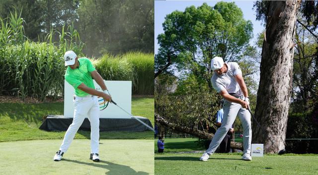 画像: スウィングは変えずに体の回転スピードを上げることで方向性を犠牲にせず飛距離アップを果たした(写真は2017年のWGCブリヂストン招待(左)、2020年のWGCメキシコ選手権(右)写真/姉崎正)