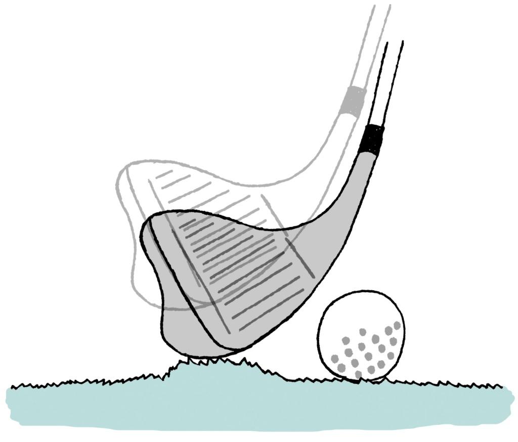 画像: ボールの真後ろのライが盛り上がっていた…クラブで箇所を改善することはできる?できない?
