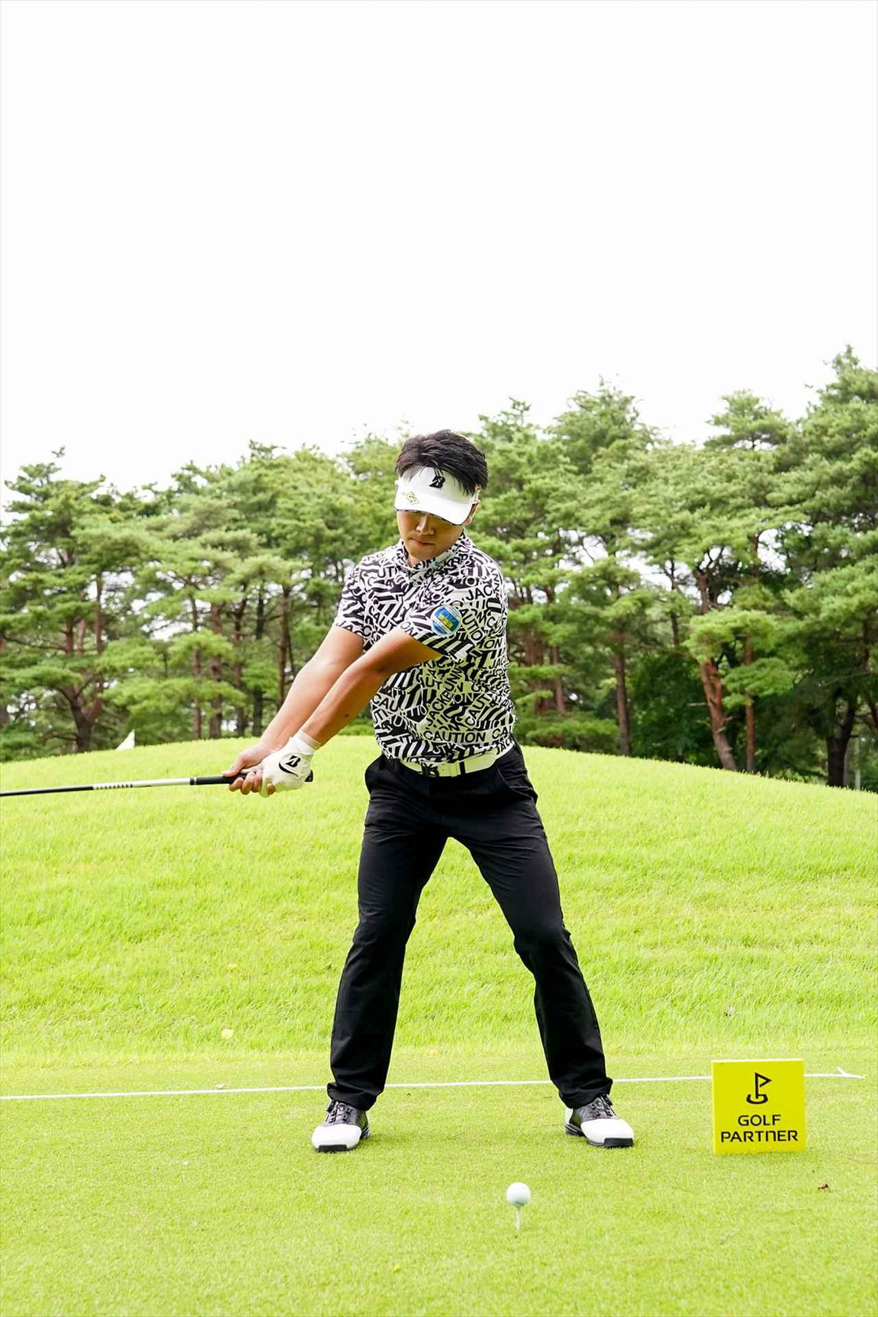 Images : 2番目の画像 - 関藤直煕 ドライバー正面連続写真 - みんなのゴルフダイジェスト